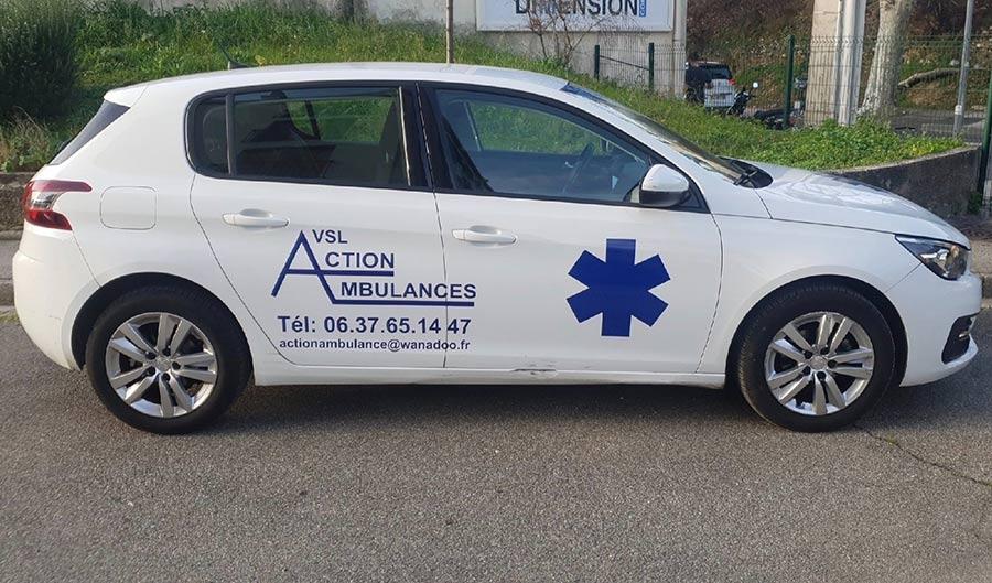 Action Ambulances | VSL près d'Aubagne, professionnalisme et disponibilité